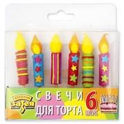 Свечи для торта на пиках Свеча 6 шт