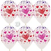 Воздушный шар Множество сердец