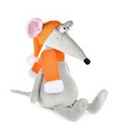 Крыс Денис в Оранжевой Шапке и Шарфе, 28 см
